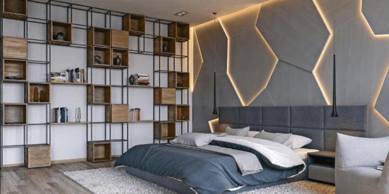 Arhus łóżko w sypialni